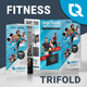 Fitness Trifold - GraphicRiver Item for Sale