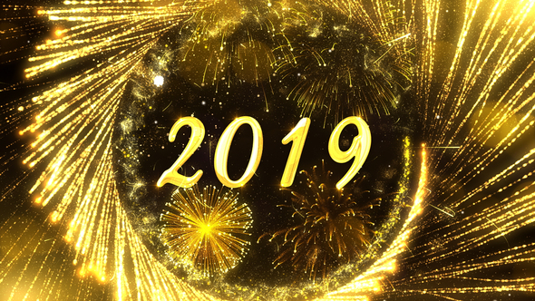 New Year Countdown 2019 - Gold Theme - HD After Effects Video