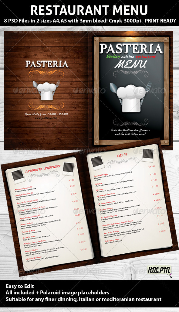 restaurant menu psd template by hotpin graphicriver