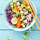 Bowl with grilled chicken meat and avocado salad - PhotoDune Item for Sale