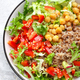 Bowl with buckwheat and salad of chickpea - PhotoDune Item for Sale