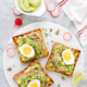 Free Download Sandwiches with avocado guacamole, fresh radish Nulled