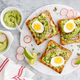 Sandwiches with avocado guacamole, fresh radish - PhotoDune Item for Sale