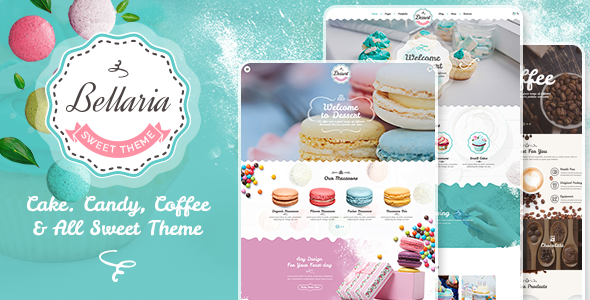 Bellaria - a Delicious Cakes and Bakery WordPress Theme - Food Retail