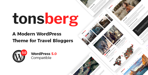 Tonsberg - A Modern WordPress Theme for Travel Bloggers