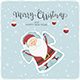 Happy Santa Claus Making Snow Angel - GraphicRiver Item for Sale