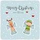 Reindeer and Elf Snow Angels - GraphicRiver Item for Sale