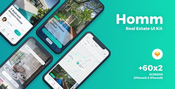 Homm - Real Estate Sketch UI Kit - Sketch Templates