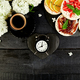 Breakfast for Valentines day with cup of coffee, - PhotoDune Item for Sale