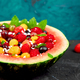 Watermelon bowl with cottage cheese and berries - PhotoDune Item for Sale