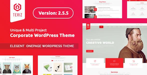 Teriz - Multipurpose Onepage WordPress Theme - Business Corporate