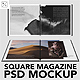 Minimal Square Magazine PSD Mockup Set - GraphicRiver Item for Sale