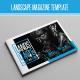 Landscape Monochrome Magazine Template - GraphicRiver Item for Sale