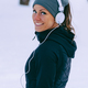 Female athlete jogging in park in winter - PhotoDune Item for Sale