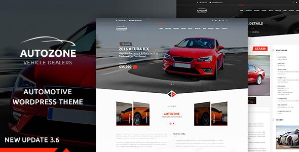 Autozone - Automotive Car Dealer - Corporate WordPress