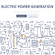 Electric Power Generation Doodle Concept - GraphicRiver Item for Sale