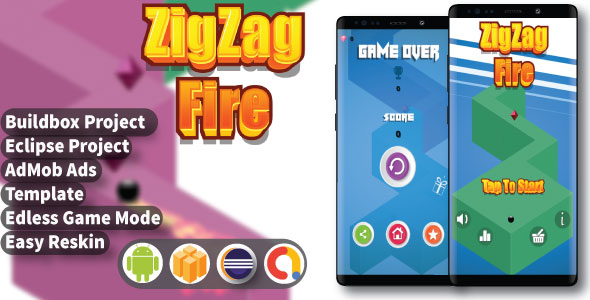 ZigZag Fire ( Android Project + Eclipse + Admob + Bbdoc ) - CodeCanyon Item for Sale
