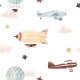 Watercolor Aircraft Baby Pattern - GraphicRiver Item for Sale