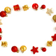 Free Download Red and golden Christmas decorations Nulled
