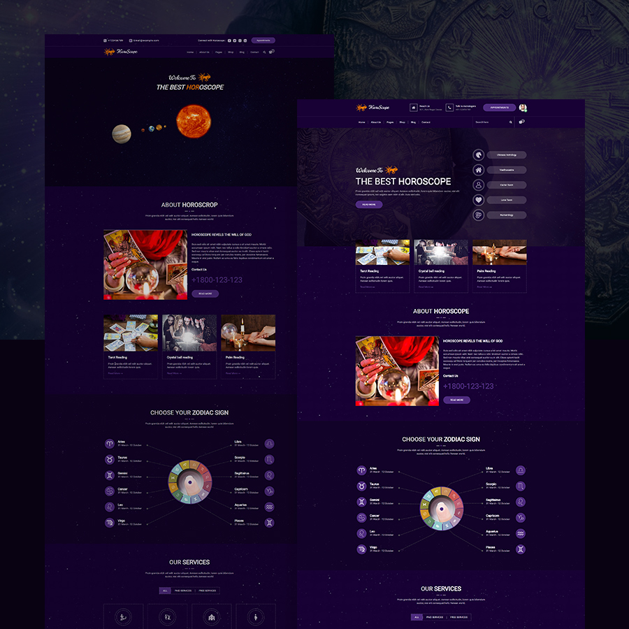 Horoscope - All in one Astrology and Numerology HTML Template - 1