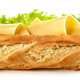 Free Download Baguette sandwich isolated on white background Nulled