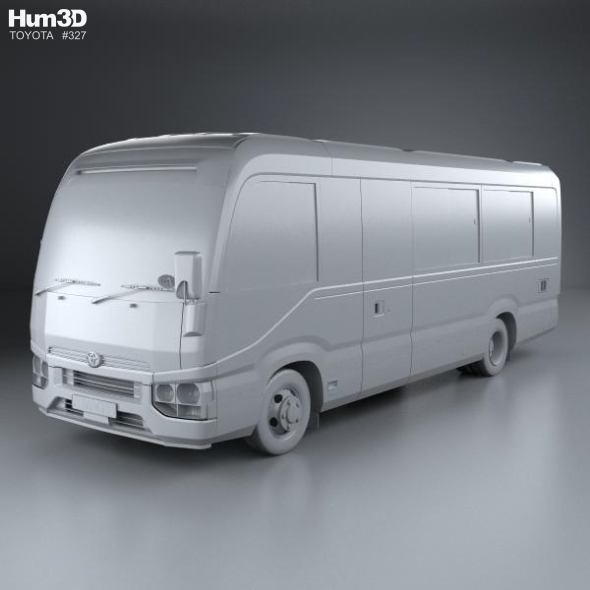 toyota coaster deluxe bus 2016 by humster3d