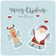 Santa and Deer Snow Angels - GraphicRiver Item for Sale
