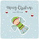 Happy Elf Making Snow Angel - GraphicRiver Item for Sale