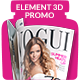 Magazine Promo for Element 3D - VideoHive Item for Sale