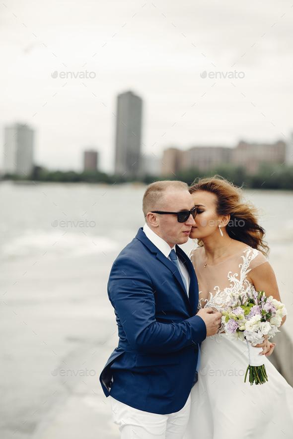 Elegant wedding couple - Stock Photo - Images