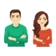 Woman and Man Angry Emotion - GraphicRiver Item for Sale