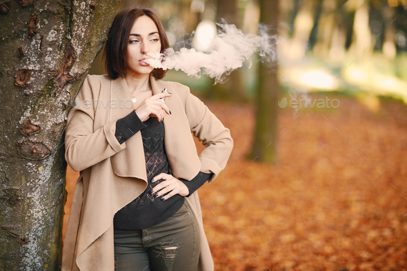 girl in the autumn park - Stock Photo - Images