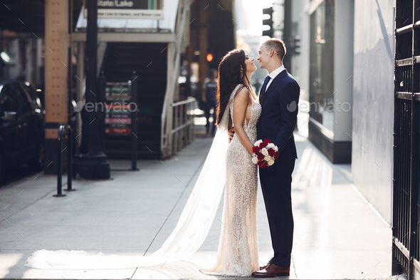 Wedding in a city - Stock Photo - Images