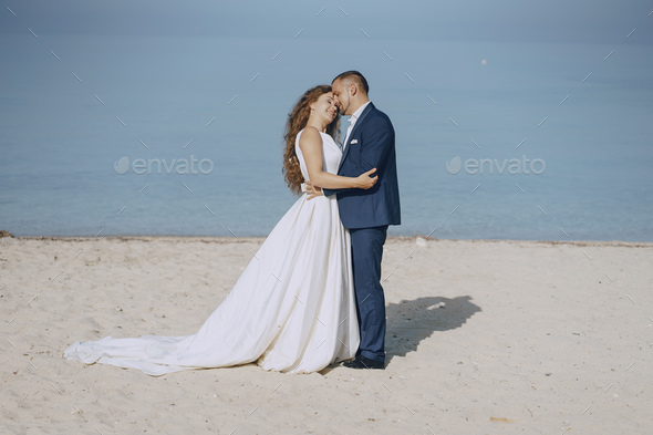 grooms in nature - Stock Photo - Images