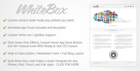 WhiteBox Premium App Website Template