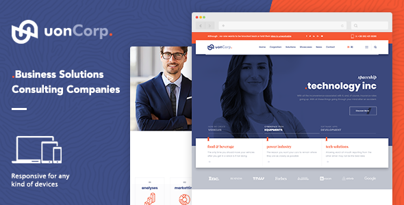 Uon Corp | Business Solutions Consulting Companies - Corporate Site Templates