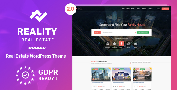 Reality | Real Estate WordPress Theme - Real Estate WordPress