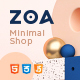Free Download Zoa - Minimalist HTML Template Nulled