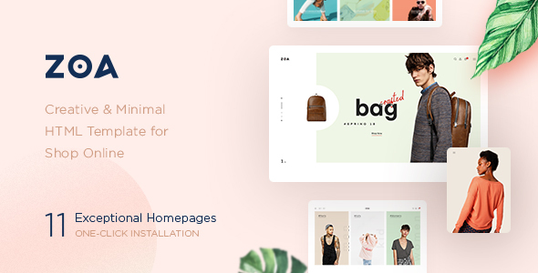 Zoa - Minimalist HTML Template