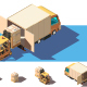 Isometric Shipment Truck with Forklift - GraphicRiver Item for Sale