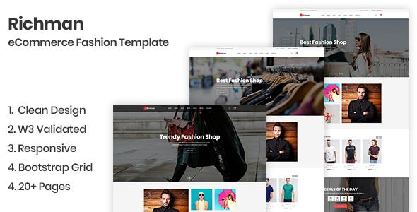 Richman - eCommerce Fashion Template
