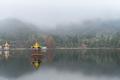 lushan mountain landscape of lulin lake in fog,  jiangxi province, China - PhotoDune Item for Sale