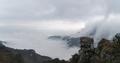 waterfall clouds panorama in lushan mountain,  jiangxi province, China - PhotoDune Item for Sale