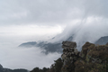 lushan mountain landscape of waterfall clouds spilling over the leeward slope,  China - PhotoDune Item for Sale