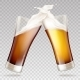 Vector Light and Dark Beer in Transparent Glasses - GraphicRiver Item for Sale