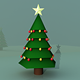 Free Download Christmas Tree 3D Model (Low Poly) Nulled