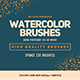 Free Download 30 Watercolor Sponge Brushes Nulled
