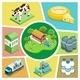 Isometric Farming Elements Composition - GraphicRiver Item for Sale