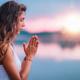Meditating. Close Up Female Hands Prayer - PhotoDune Item for Sale