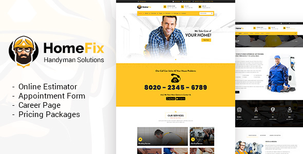 HomeFix - Handyman, Maintenance WordPress Theme - Business Corporate